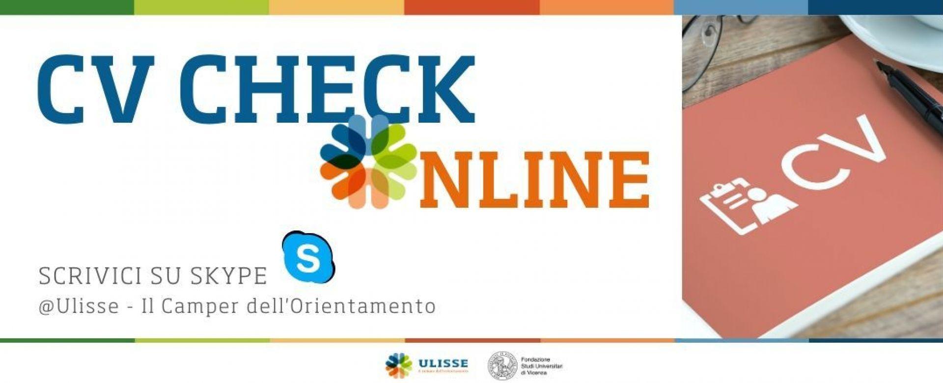 30.04.2020 - CV check | Fondazione Studi Universitari di Vicenza